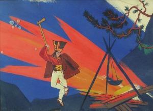 Zofia STRYJEŃSKA (1894-1976), Janosik przy ognisku, 1925