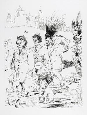Edward DWURNIK (ur. 1943), Chora kobieta, 1987