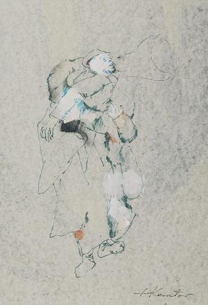 Tadeusz KANTOR (1915-1990), Projekt kostiumu do spektaklu: Umarła klasa