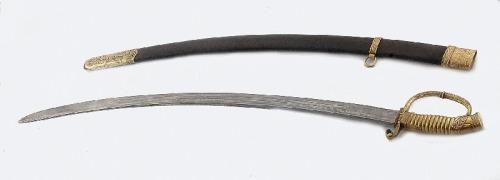 """Fabryka broni białej """"ZŁATOUST"""", Szabla rosyjska, oficerska, wz. 1909; honorowa, w pochwie"""