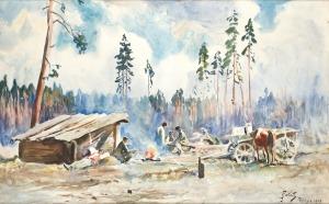 Julian Fałat, KRAJOBRAZ ZPOLESIA, 1916