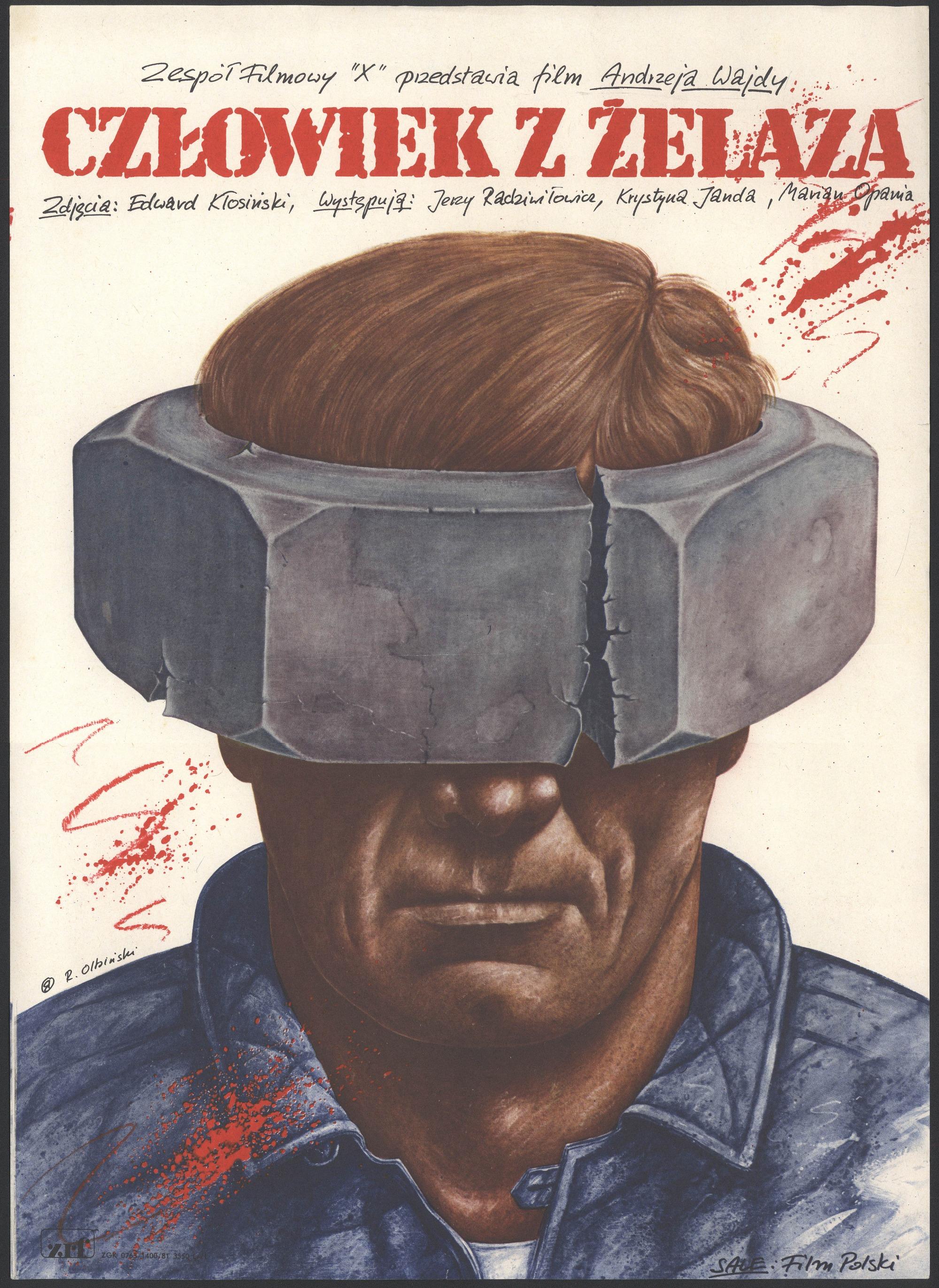 Plakat Filmowy Człowiek Z żelaza Awajdy R Olbiński
