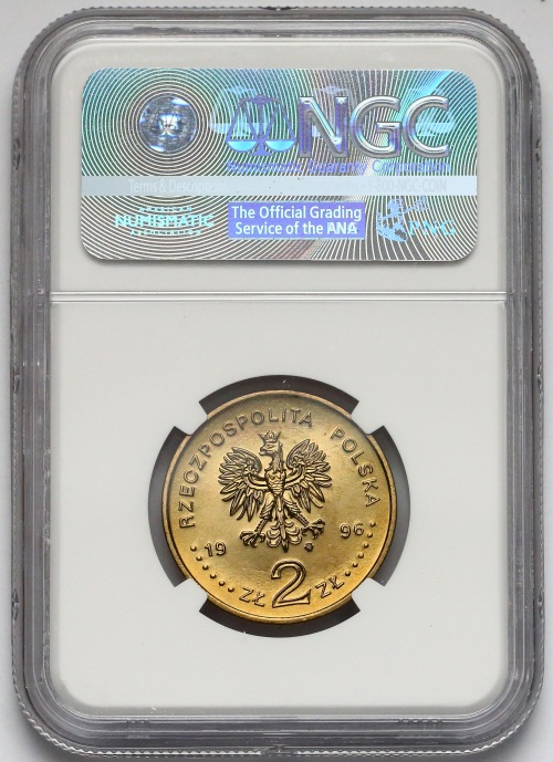 2 złote 1996 Zygmunt II August - NGC MS67