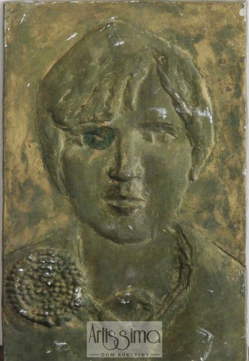 Zygmunt Makowski, Plakieta - Portret kobiety z broszką