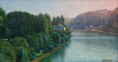 Gierymski Aleksander, PEJZAŻ WŁOSKI, 1899-1900