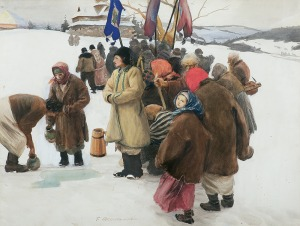 Axentowicz Teodor, ŚWIĘTO JORDANU, OK. 1900