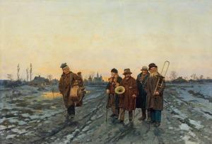 Streitt Franciszek, WĘDROWNI MUZYKANCI, 1879