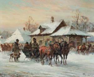 Chmieliński (Stachowicz) Władysław, ZIMĄ NA WSI