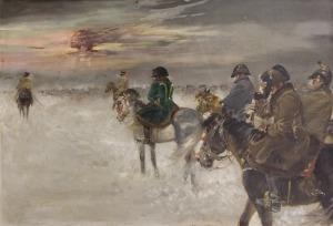 Jerzy Kossak (1886-1955), Odwrót Napoleona spod Moskwy
