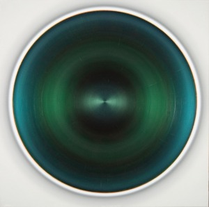 Robert Schaberl, THREE GREENS DANCE WITH DARK PURPLE AND BLUE, 2015