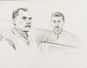 Zygmunt BADOWSKI (1881-1959), Rysunki z procesów: