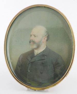 Mihaly VON ZICHY (1827-1906), Portret mężczyzny - miniatura, 1888