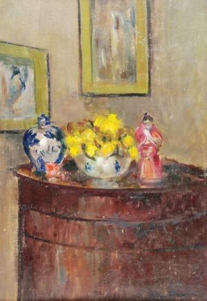 Stefan FILIPKIEWICZ (1879-1944), Martwa natura - szkic olejny