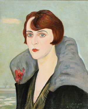 Wlastimil HOFMAN (1881-1970), Portret kobiety, 1927