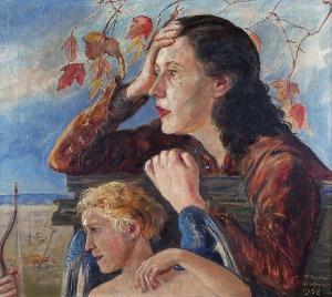 Wlastimil HOFMAN (1881-1970), Kobieta i Amor, 1958