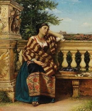 Malarz nieokreślony (XIX w.), Zamyślona kobieta