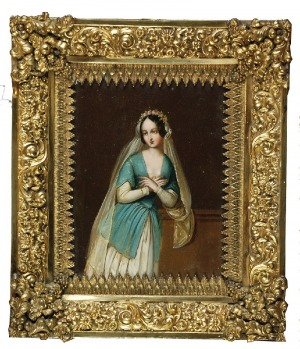 Malarz nieokreślony, angielski? (XIX w.), Portret kobiety - miniatura