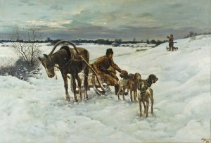 S. ZĄTKIEWICZ? (XIX w.), Na polowaniu, 1898