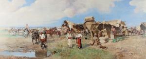 Tadeusz AJDUKIEWICZ (1852-1916), Scena bałkańska, 1905