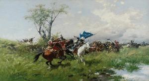 Józef BRANDT (1841-1915 ), Atak kawalerii
