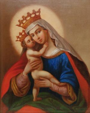 Malarz nieokreślony, polski (XIX/XX w.), Matka Boża Królowa Polski, ok. 1890