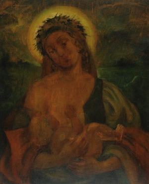 Janina BOBIŃSKA-PASZKOWSKA (1894-1973), Matka Boża Karmiąca, ok. 1930