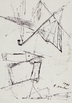 Tadeusz KANTOR (1915-1990), Bez tytułu - Parasolki, 1970