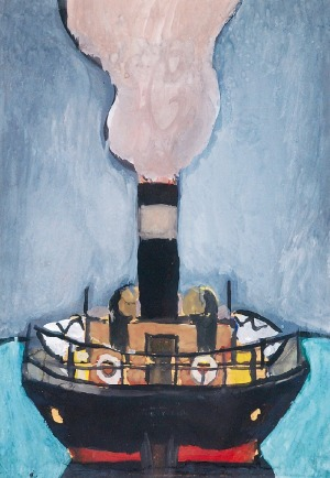 Marek WŁODARSKI - Henryk STRENG (1903-1960), Odjeżdżający okręt, 1948
