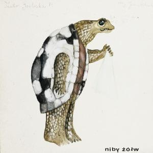 """Jan POLEWKA (ur. 1945), Niby żółw - projekt kostiumu do przedstawienia """"Alicja w krainie czarów"""" wg Lewisa Carrolla, ok. 1979"""