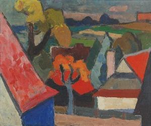 Kazimierz PODSADECKI (1904 -1970), Pejzaż, 1954?