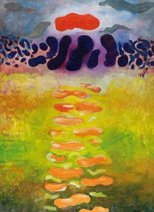 Jan PAMUŁA (ur. 1944), Kompozycja abstrakcyjna, 1970