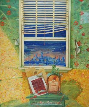 Allan RZEPKA (ur. 1940), Widokówka z Nowego Yorku, 1988
