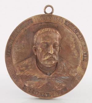 """Jan KRYŃSKI (1850-1890) - modeler, Medalion """"Jan III Sobieski"""""""
