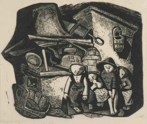 Maria HISZPAŃSKA-NEUMANN (1917-1980), Wygasły piec, 1948