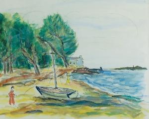 Henryk EPSTEIN (1892-1944), Łódź na brzegu morza