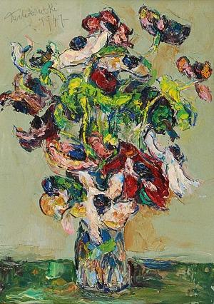 Włodzimierz TERLIKOWSKI (1873-1951), Kwiaty w wazonie, 1947