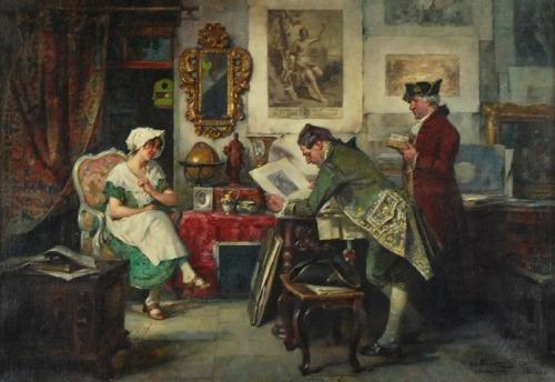 Joseph FRANK (1873-1941), Kolekcjoner w antykwariacie, 1926