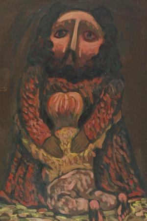 Henryk ZEGADŁO (1939-2011), Starzec z dzieckiem - Chrystus (?)