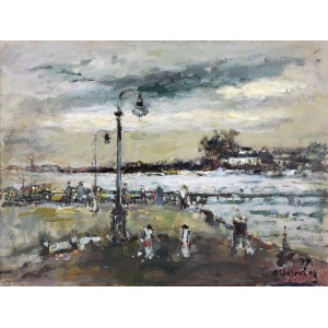 Magdalena SPASOWICZ (ur. 1927), Port z latarniami, 1997