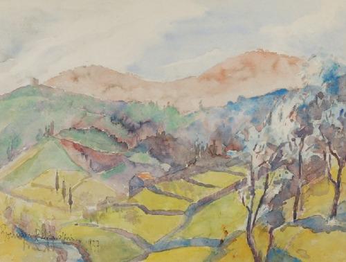 Roman BILIŃSKI (1897-1981), Dolina z polami, 1937