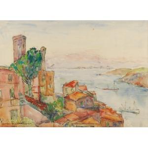 Roman BILIŃSKI (1897-1981), Pejzaż z zatoką