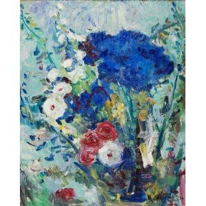 Roman BILIŃSKI (1897-1981), Niebieskie kwiaty [Fiori in blu], 1963