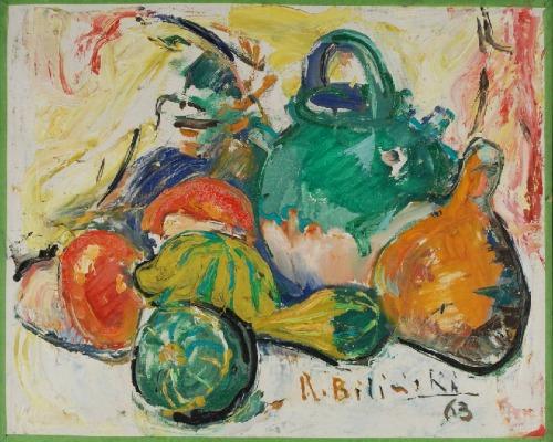 Roman BILIŃSKI (1897-1981), Martwa natura z tykwą [Zucchette], 1963
