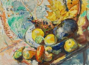 Roman BILIŃSKI (1897-1981), Jesienna martwa natura [Frutta in autunno], 1964