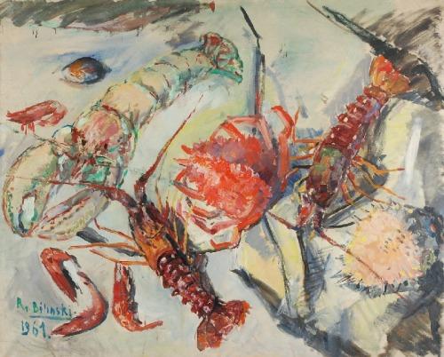 Roman BILIŃSKI (1897-1981), Owoce morza [Frutti di mare], 1961