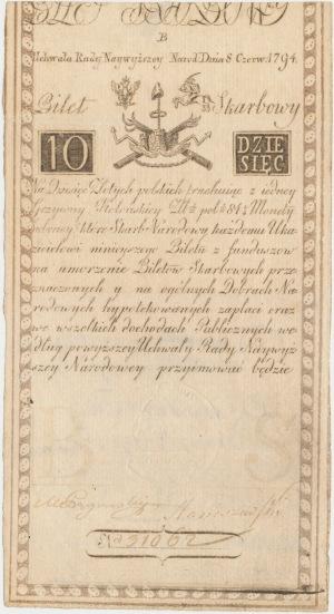 10 złotych 1794 - B - D&C Blau[w]
