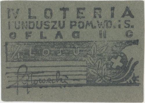 Oflag II C Woldenberg IV Loteria Funduszu Pom. Wd. i S.