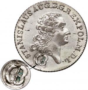 Poniatowski, pruska Złotówka 1766 z puncą Probierza Generalnego - rzadka
