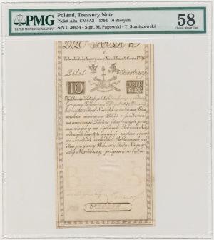 10 złotych 1794 - C - PMG 58
