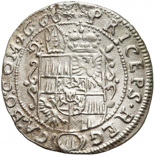 Czechy pod panowaniem Habsburgów, 3 krajcary Ołomuniec 1666